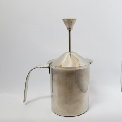 Double Mesh Plunger Milk Frother w/ spring 400cc