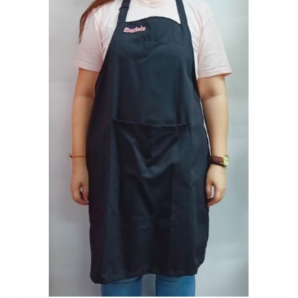 Barista Apron / Microfiber -Black with text