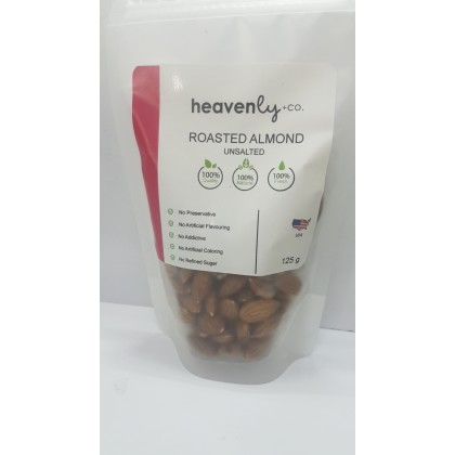 Roasted Almond Unsalted 125g